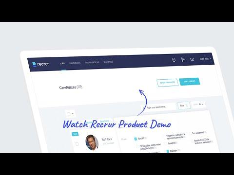 Recrur Recruitment Software Demo